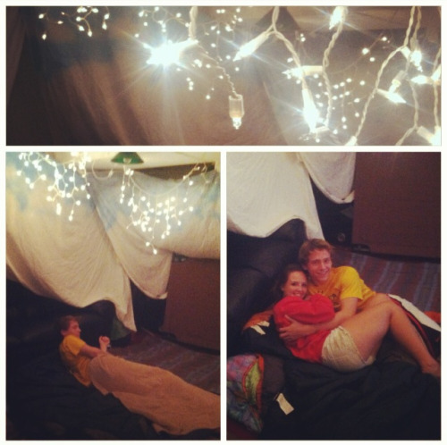 Tonight we built a blanket fort. Probably one of the most fun things I think I have ever done. Hahaha it was on our summer bucket list and we felt like little kids building it. We spent all night in it and watched the closing Olympics ceremony and just had the time of our lives. Its little moments like these that make me fall in love with him over and over again. Every day I'm reminded why I fell in love with him and why he is my best friend. I mean c'mon… He builds blanket forts with me…. I'm pretty sure he's a keeper!