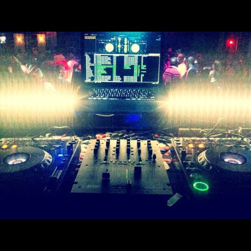Elysium!! (had to rock wit the cdj's tonight) (Taken with Instagram)