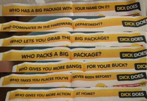 readytogogetmeoutofmymind:  The marketing team at Dick Smith strike again