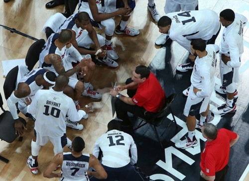 USA 98 - FRANCE 71 (July 29, 2012) [Image Source: NBC Olympics; Photographer: Rob Carr/Getty Images; Box Score]