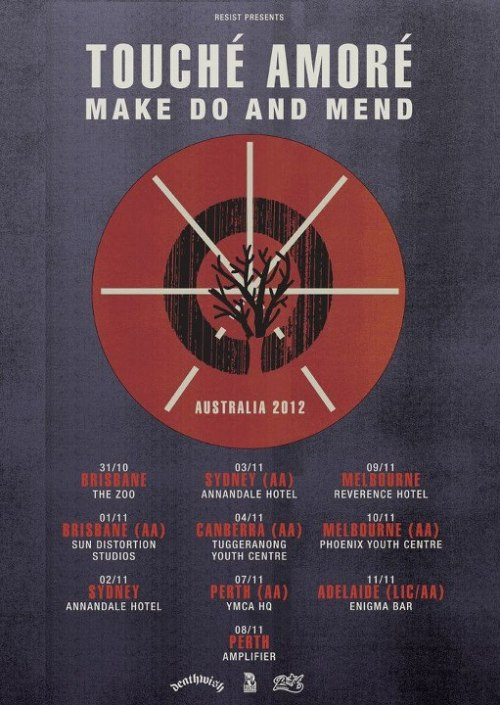 Tour Dates: Touche Amore / Make Do And Mend