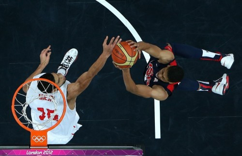 USA 110 - TUNISIA 63 (July 31, 2012) Anthony Davis, Team USA [Image Source: NBC Olympics; Photographer: Ian Walton/Getty Images; Box Score]
