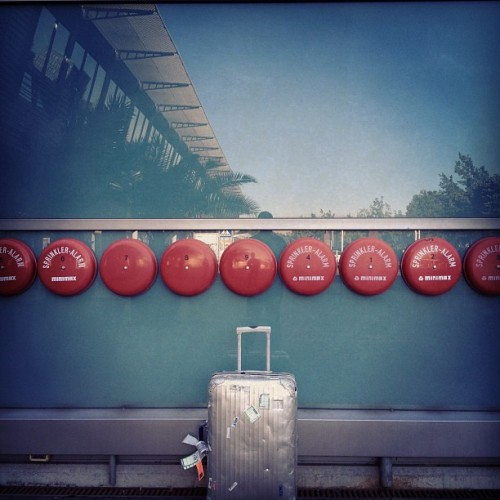 Touch down #airport #FMO. Hanging with the fire fighters #rimowa.tumblr.com