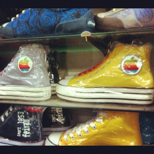 Ultimate Apple fanboy Converse hightops. Guangzhou, China. (Taken with Instagram)