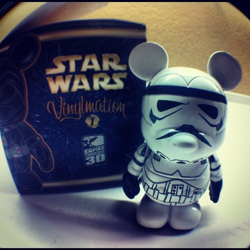 Storm Trooper acquired #starwars #vinylmation #collection #disneyland #fisheye (Taken with Instagram)