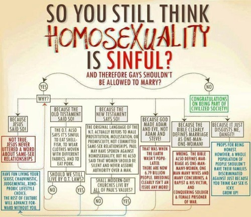 warrior-scribe:  So you still think homosexuality is sinful?
