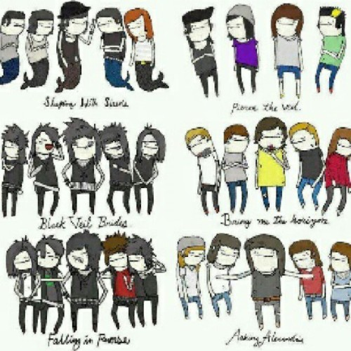@peaceLOVEnoise @luisitoako well this is cute :3 lol #SleepingWithSirens #BlackVeilBrides #FallingInReverse #PierceTheVeil #BringMeTheHorizon #AskingAlexandria #posthardcore #deathcore #metal #hardcore #bands #cartoon #animated #instagram #cute #sws #aa #bvb #bmth (Taken with Instagram)