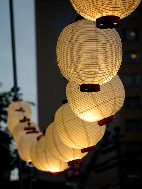 Paper lanterns. by MJ/TR (´・ω・) on Flickr.