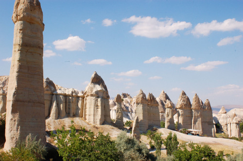 They call these Fairy Chimneys Cappadocia