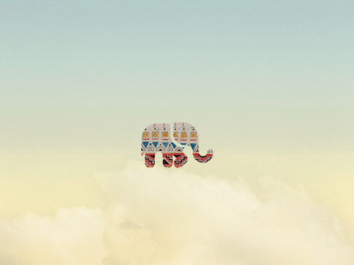 visualgraphic:  Elephant in the sky - Koheun Lee Submitted by koheunlee.tumblr.com