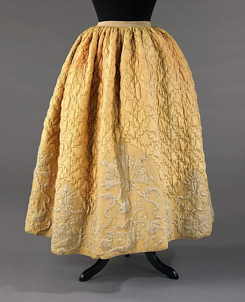 Petticoat 1740-1760 The Metropolitan Museum of Art
