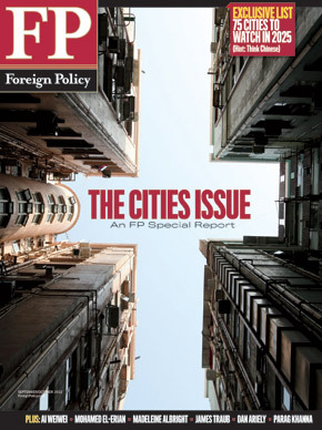 The cities issue Foreign Policy (September/October 2012)