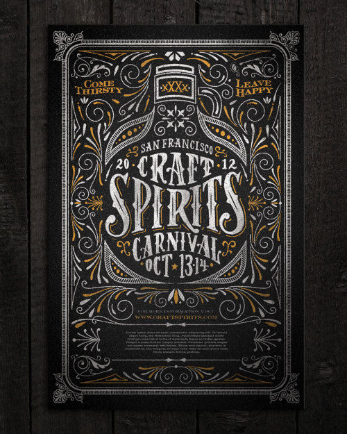 typeverything:  Typeverything.com Craft Spirits Carnival poster by Joel Felix.    Joel is the man - i graduated design school with him.