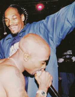 vivalatupac:  4 Jul 1996 with Snoop Dogg at the House of Blues