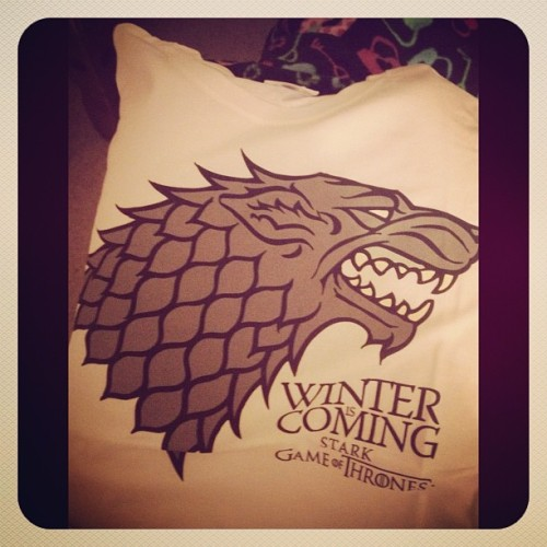 Winter is coming! :) #gameofthrones #stark #winter #winteriscoming #got #wic #direwolf #wolf #snow (Taken with Instagram at BP)