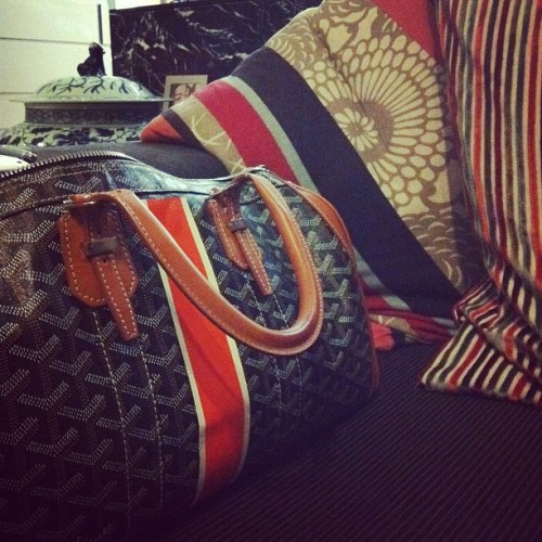 #goyard with matching pillows in living room (Taken with Instagram)