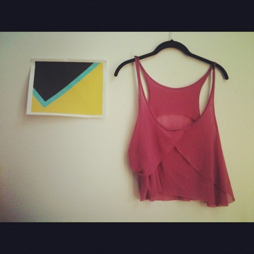 Made a tank top for my @amillionminds before she dips back to toronto. #DIY #love #friends #gifts #clothing #tanktop #purple #lavender  (Taken with Instagram)