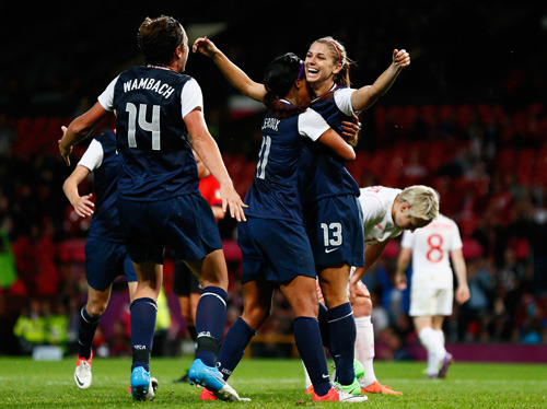 USA Women's Soccer winning GOLD