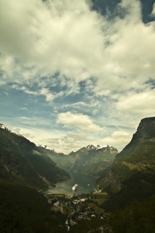 theprettypicture:  A spectacular view of Geiranger fjord, Norway. Photograph by Andrea Albertino
