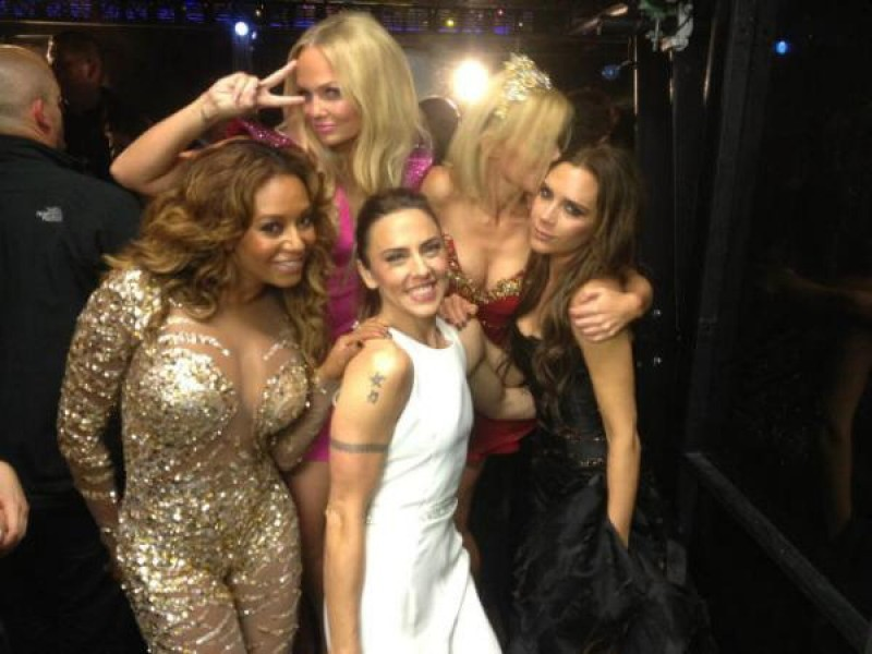 plasticliche:  The Spice Girls after performing at the Closing Ceremony
