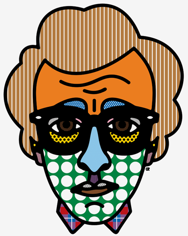 Woody Allen (via Half Warhol & half Lichtenstein Celebrity Portraits by Craig Redman | Trendland: Fashion Blog & Trend Magazine)