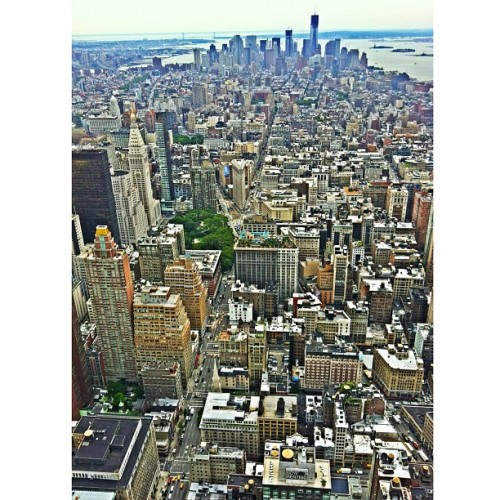 #manhattan from the #empirestatebuilding  (Wurde mit Instagram aufgenommen)