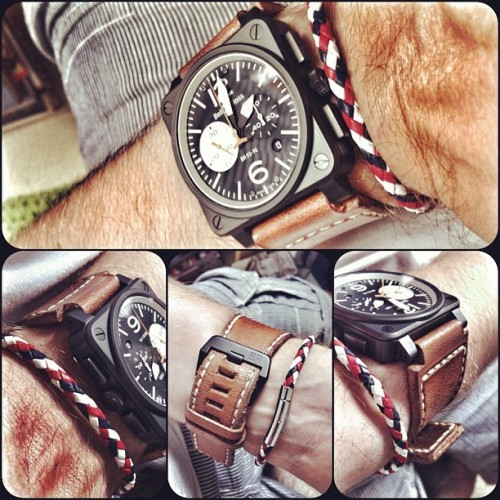 #womw …BR03 Black & White #bellrosswatches #bellross #paristrap #teamGB Goodbye to the London Olympics. (Taken with Instagram at rural oxfordshire ) #leather #bracelet #redwhiteblue #greatbritain #uk #br03 #carbon #chronograph