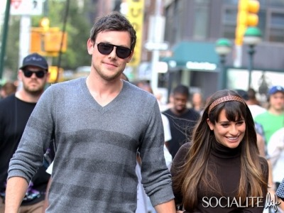 This time we've spotted the Glee songstress on the NYC set with her real beau–and TV beau–Cory Monteith. It's as if he knew we were wondering where he was so he decided to make an appearance. (via Couples We Love: 'Glee' Stars Lea Michele & Cory Monteith Get Cute On Set [PHOTOS] - Socialite Life)