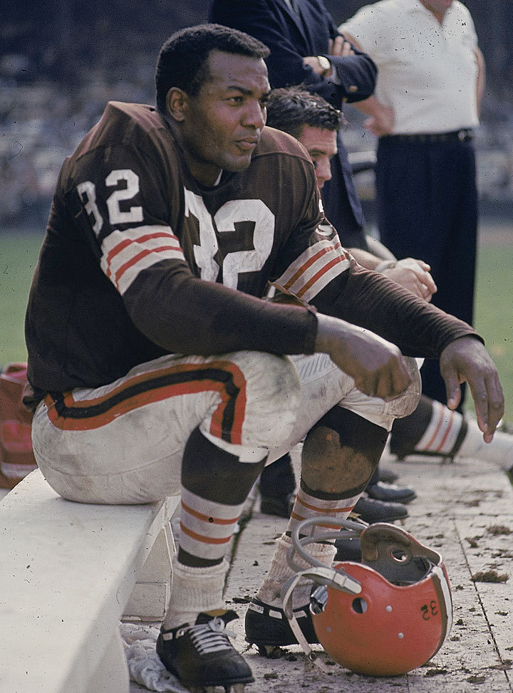 Browns RB Jim Brown rests on the sidelines during a 1963 game against the Cowboys. The 2012 season has yet to begin and the Brown are already in trouble. Rookie back Trent Richardson had a scope on his knee Thursday and may miss the opener. Defensive back Joe Haden is facing a four-game suspension for a taking drug usually used to combat narcolepsy and attention deficit disorder. If that's not enough, starting wide receiver Mohamed Massaquoi was concussed Friday night. (Neil Leifer/SI) KING MMQB: Tough first week for Browns and other more from around the NFLGALLERY:  Top 32 All-Time Running Backs | Notable Preseason QB Debuts