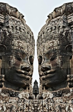 buddhabe:  Angkor Wat, Giant Faces at Bayon Temple