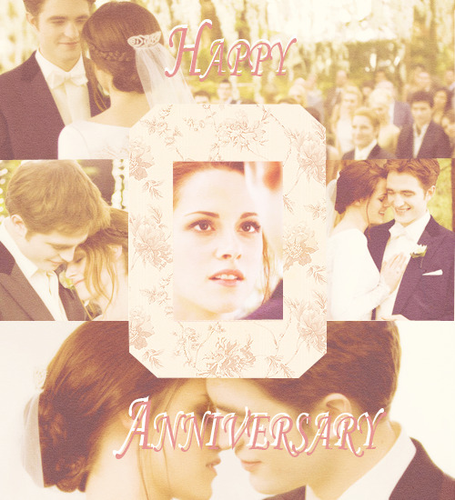 Happy wedding anniversary Edward and Bella