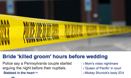 Why is 'killed groom' in quotes?