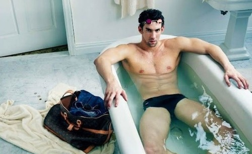 I'm not particularly a fan of Michael Phelps. There, I said it. I am however, a fan of a good head on collision between high fashion and athleticism. So here you have it, Michael Phelps joins the Louis Vuitton Core Values campaign shot by Annie Leibovitz.