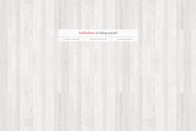 "tashabartons:  PAGE THEME 01 - SAVED URL↳ download / raw code / freetexthost / livepreview  You know that really irritated feeling that comes over you when you go to check a url you'd like to use, only to discover a blank page without any information as to who is saving the url? We've all felt it, so I decided to try and put an end to it. This page theme will allow you to redirect people to your current url, and your askbox so you can discuss whether or not you're willing to give up the one they stumbled on. I hope you guys find it useful! And remember: you should install it just like a regular theme, not as a page. ALSO IMPORTANT: When you fill in your ""current url"", ONLY use your username and not the entire url. For example: only fill in ""tashabartons"" instead of ""http://tashabartons.tumblr.com/"" FEATURES: customizable colors background image option links to your home and askbox very simple, easy to read This askbox is open if you have questions, but to be entirely truthful, I don't really check it and have no inspiration to. Real life is busy and stressful, so if I take a long time to get back to your questions, that's way. Note: Designed on Google Chrome."