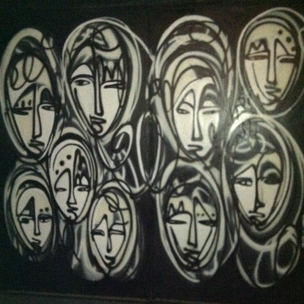 From our Instagram: Spotted! Jordan Betten art outside of The McKittrick Hotel (aka Sleep No More) in Chelsea.