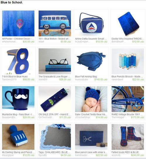 Blue To School Treasury