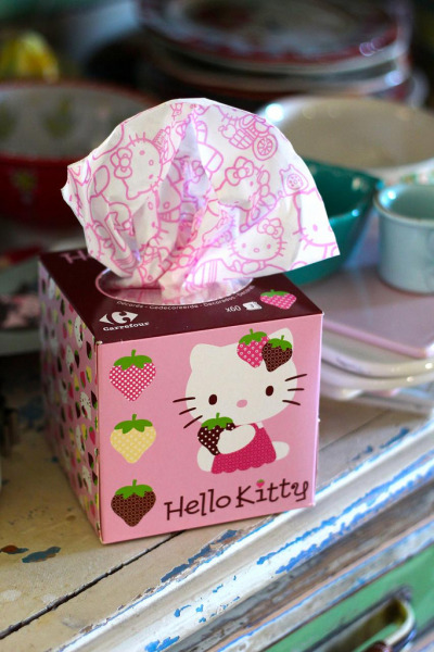 marbledoll:  Hello Kitty Kitchen Tissues (- kbo)