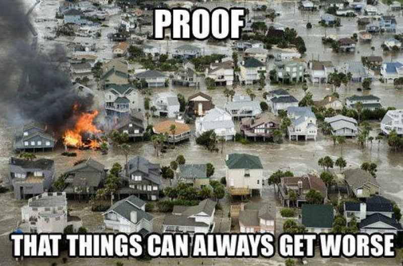 collegehumor:  Burning House in the Middle of a Flood Someone's having a bad day.