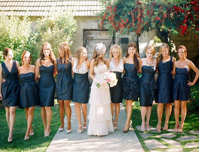 Mismatched bridesmaids dresses!