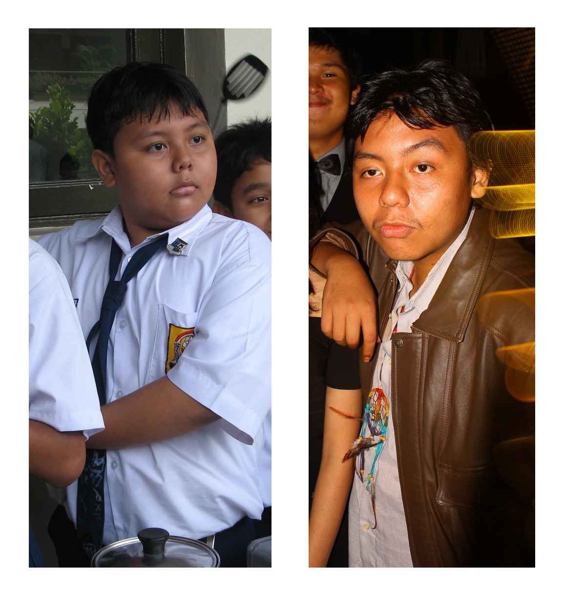 Aryo Left: 2007Right: 2012