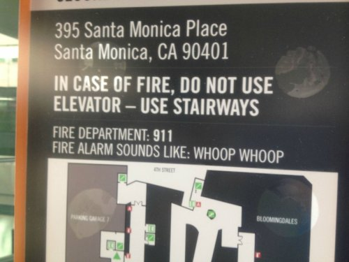 "Fire Alarm Sounds Like Whoop Whoop Eh, this alarms sounds more like ""wheep wheep."" It's probably not a fire."