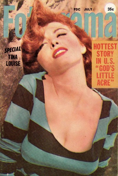 Foto-rama, July 1958On the cover: Tina Louise Source: Stag Mags