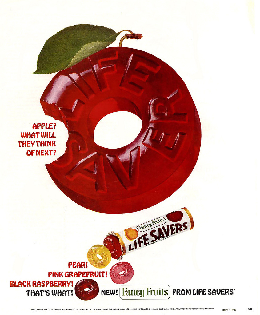 1965 Life Savers candy ad