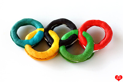 Hope you all enjoyed the olympics. Olympic Macarons