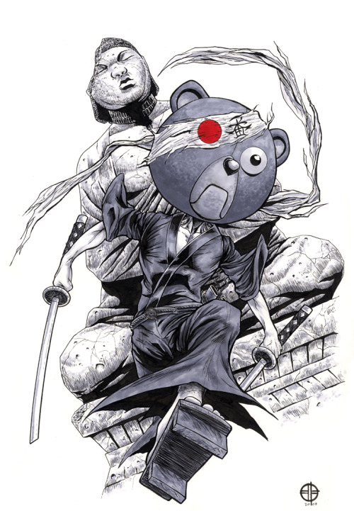 you-know-something-mean-gene:  Afro Samurai - Kuma by ~BrettBarkley