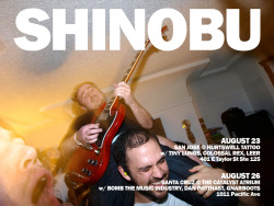 A couple Shinobu shows this summer for Northern California people.