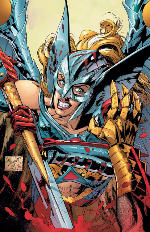 "Rob Liefeld spoke with CBR about Hawkman, Deathstroke, and Grifter. Here is what he had to say about the Hawkwoman like character on the cover of issue #12.  So we've got a woman who's been breaking through to Hawkman's Nth Metal armor via some kind of distress signal, and then we've got a very Hawkwoman-looking character on the cover to issue #12. How are these two connected? Hawkman has indeed been receiving messages within his Nth metal, since early in my first issue. We had to pay that off eventually, right? Issue #12 sets the table for months to come with #0 and the aftermath that leads to ""Wanted."" The ""Hawkman"" #0 issue seems to be a chance for you to ties the origin special concept directly into the endgame you seem to be heading towards with Thanagar. Since so many fans know the something about how that planet has worked in the past, how are you trying to make it different in the New 52? I have a completely different approach to Thanagar and Hawkman's origin. It's a very different path for Katar Hol than any that have been traveled before. Hopefully long time fans as well as new readers will enjoy this direction. We had a lot to fit into 20 pages — conspiracies, drama, action, monsters — it's really big.  Go read the full interview."