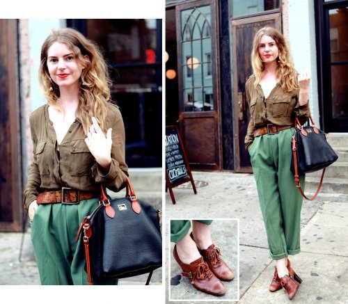 Jenna is mighty fab in her modern vintage outfit…New York City, NY (via Upashion)
