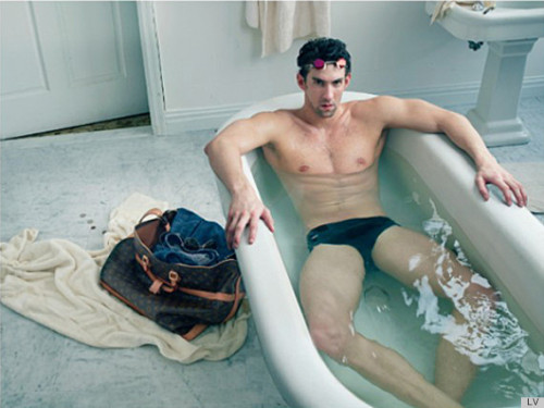 clockenfrau:  imwithkanye:  Michael Phelps models for Louis Vuitton in new ad campaign.