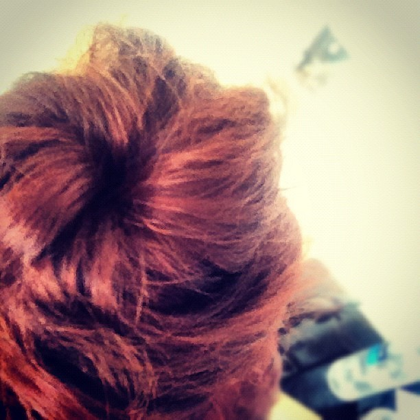 ☀=fun bun @apaigemueller how'd I do? (Taken with Instagram)